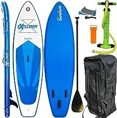 EXPLORER SUP SUNSHINE 305 x 81 x 12 cm Inflatable Isup aufblasbar Alu-Paddel Stand Up Paddle Board Set Pumpe Surfboard Aqua Paddelset