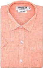Arihant Men's Cotton Linen Formal Shirt