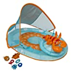 SwimWays Baby Spring Float Activity Center with Canopy blue 11566