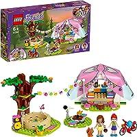 LEGO 41392 Friends Le Camping Glamour dans la Nature, avec Olivia de Friends, Un écureuil et Une Tente