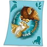 Herding Disney Le Roi Lion Cuddle Blanket, Polyester, Bleu, 130 x 160 cm