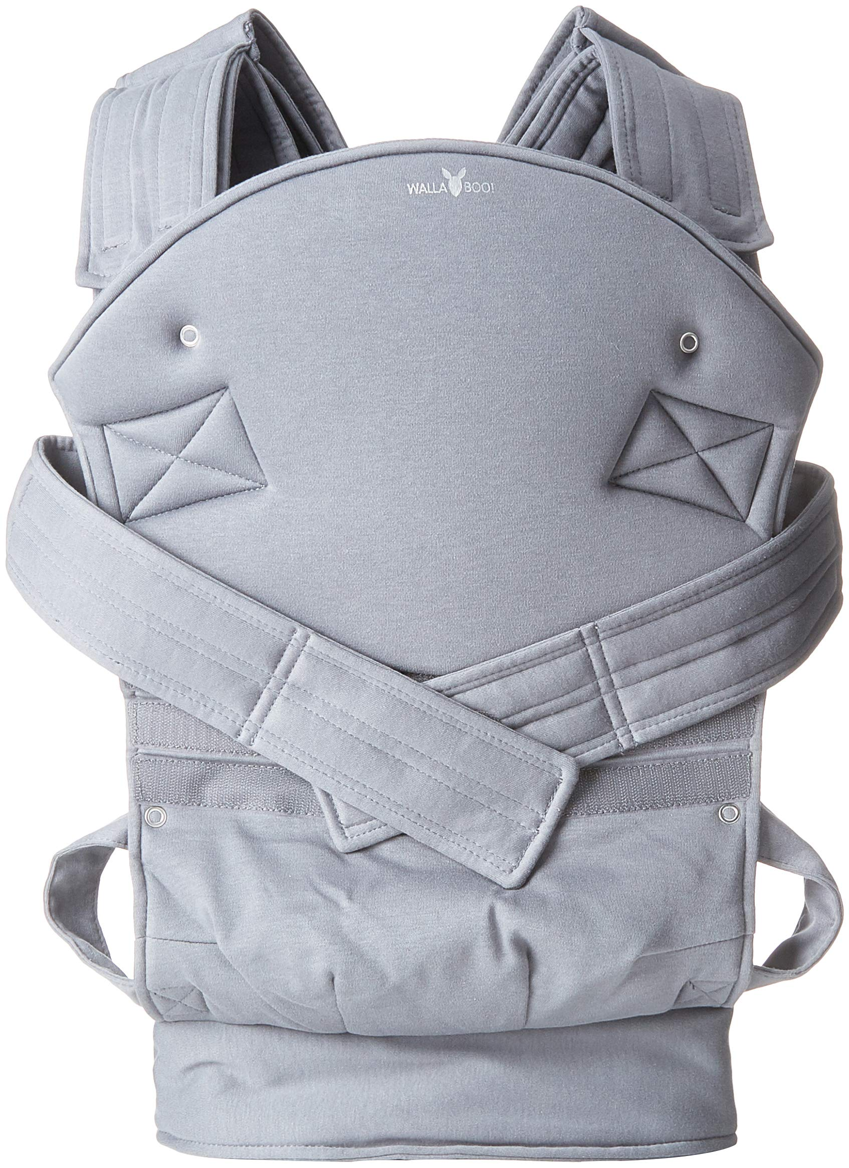 Wallaboo Baby carrier Ease, Hig Quality, Easy Adjustable and Ergonomic Front Carrier, 2 carrying poitions, Strong 100% cotton, Newborn 8lbs to 33lbs, Colour: Grey Wallaboo Ergonomic carrying with wide leg position (m-position) Sturdy waist belt and padded shoulder straps. Age suitability: babies from 3,5kg / 8 lbs to 15kg / 33 lbs. Walla boo baby carrier is made with 100% breathable cotton, makes baby feel comfortable and cozy 1