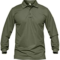 MAGCOMSEN Men's Quick Dry Long Sleeve Polo Shirts for Casual Military Golf Hiking