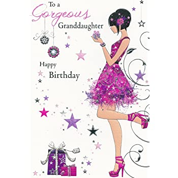 To A Gorgeous Granddaughter Happy Birthday Card JJ8542