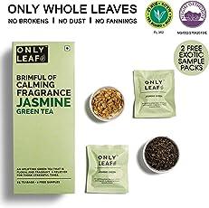 Onlyleaf Jasmine Green Tea, 27 Tea Bags with 2 Free Exotic Samples