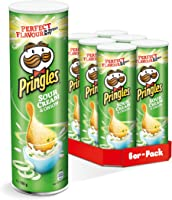 Pringles Sour Cream & Onion, 6er Pack (6 x 190 g)