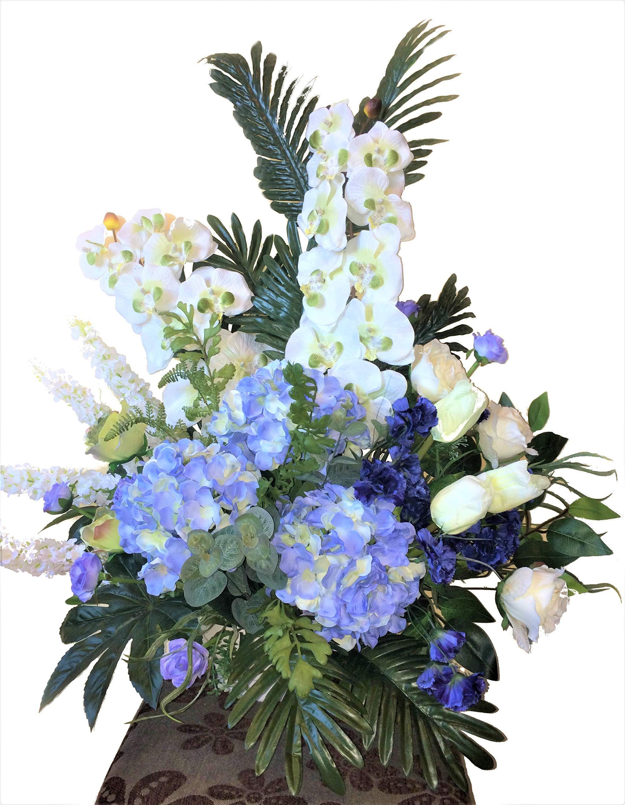 LBA Centro de Orquídeas Blancas y Hortensias Azules, Flores y Plantas Artificiales. Tanto para casa como para Cementerio…