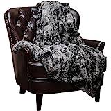 بطانية شايناسيا من الفراء الصناعي المزغب - بطانية ناعمة خفيفة الوزن للسرير والأريكة وغرفة المعيشة مناسبة للخريف والشتاء والرب