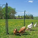 vidaXL Euro Fence 10x1m with Mesh Outdoor Garden Farm Screen Panel Enclosure