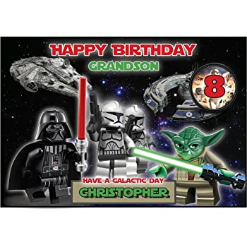 Personalised Star Wars Lego Birthday Card Amazon Office Products