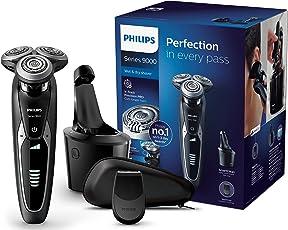 Philips Elektrischer Nass-und Trockenrasierer Series 9000 mit V-Track-Pro-Klingen S9531/26, SmartClean Reinigungsstation, Präzisionstrimmer