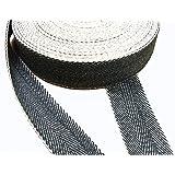Pandoras klädsel 1 del 10 m fiskben vävrulle rull, svart och vit