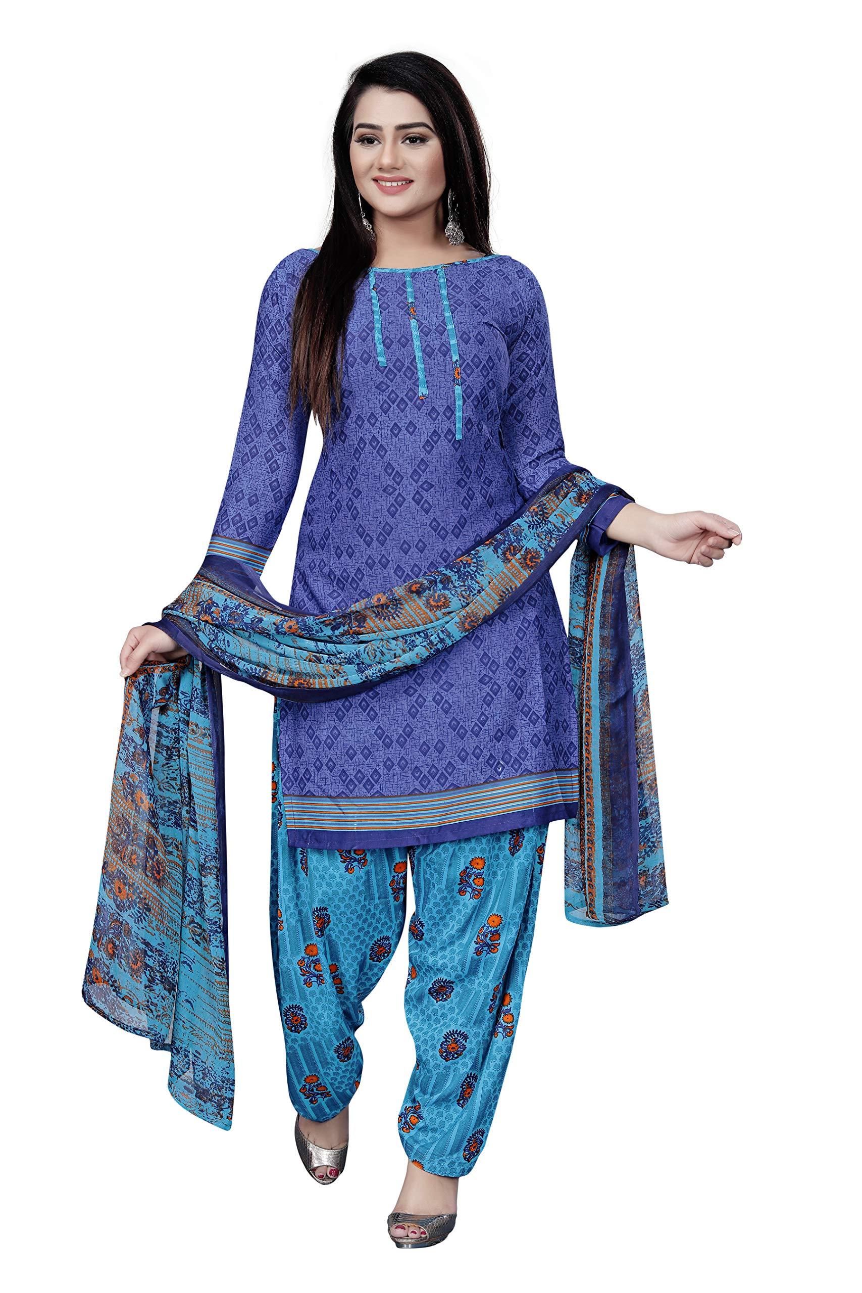 ANNI DESIGNER Women's crepe Dress Material