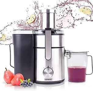 aicok Juicer centrifugeuse fruits et légumes avec Largeur 75 mm Centrifugeuse jus extracteur