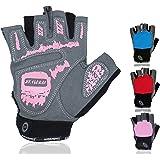 NetroxSports Trainingshandschuhe für Herren und Damen – atmungsaktive und leichte Fitness Handschuhe mit extra Grip Silikon Pads für Bodybuilding und Krafttraining – Gym Gloves for Women & Men
