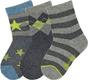 Sterntaler 3-er Set Jungen Socken lustige Tiere himmel 8321822