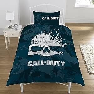 Call of Duty Bettwäsche-Set für Einzelbett, Polyester-Baumwolle, Marineblau