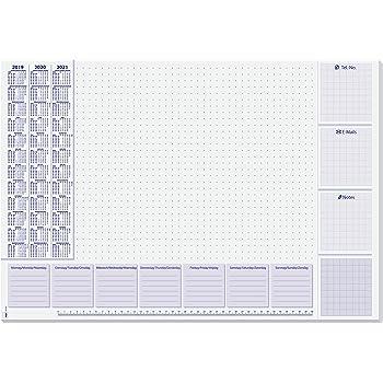 Papier 59x40 cm Schreibtischauflage Unterlage Herlitz Schreibunterlage Kalender