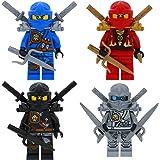 Ninjago Lego 4er Figurenset Ultimate 11 - Cole Zane Titanium Kai Jay mit 13 GALAXYARMS Waffen Schwerter