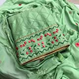 Skycrue Women's Pure Cotton Unstitched Salwar Suit Dress Material Free Size