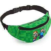 Minecraft Bauchtasche Kinder, Grüne Gürteltasche Kinder mit Verstellbarem Gürtel, Hüfttasche Ideal für Urlaub, Schule…