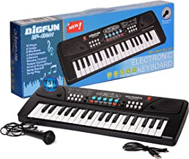 Toy Sports House 37 Key Piano Keyboard Toy with Dc Power Option, Recording and Mic for Kids - 2018 Latest Model