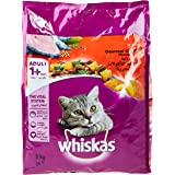 Whiskas Pockets Gourmet Seafood Dry Cat Food - 3 kg