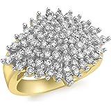 Carissima Gold Anello da Donna in Oro Giallo 9K con Diamante 1ct