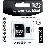 STAR BUY* - Scheda di memoria MicroSD SDHC, 64 GB, classe 10
