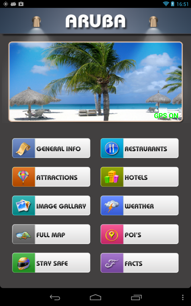 aruba island offline map travel guide kindle tablet edition apps f r android. Black Bedroom Furniture Sets. Home Design Ideas
