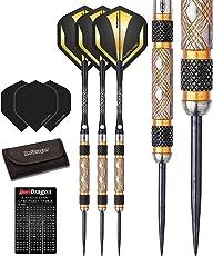 Red Dragon Golden Eye 22g, 24g, 26g, 28g, 30g or 32g Tungsten Steel Darts Set (Steel Dartpfeile) mit Flights, Schäfte, Brieftasche Checkout Card