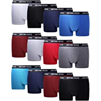FM London Fitted Boxer Shorty (Lot de 12) Homme