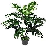 Leaf - Palmera, Tipo Areca, Artificial, de 90 cm, Planta de tamaño Grande, Color Verde