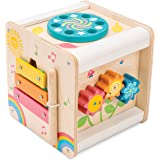 Le Toy Van - Wooden Educational Petilou Multi-Sensory Activity Cube With Spinning Wheel   Suitable For Boy Or Girl 1…