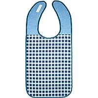 ZOLLNER Lätzchen für Erwachsene 45x90 cm, blau, wasserdicht, waschbar, 164