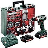 Metabo batteriborrskruv BS 18 mobilt verkstadssats (2 x 2,0 ampereundbatteri inklusive laddare, 18 volt, 2 gång, Brushless in