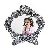 eCraftIndia Antique White Metal Photo Frame (9.5 x 0.5 x 10 inches)