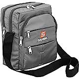 DAHSHA Nylon 6 Multi Pocket Sling Cross Body Travel Office Business Messenger one Side Shoulder Bag for Men & Women-(25 x 9 x