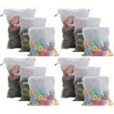 Beddify Set of 12 Premium Reusable Fridge Storage Bag for Vegetables and Fruits Zipper (4 Small, 4 Medium & 4 Large Size…