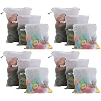 Beddify Set of 12 Premium Reusable Fridge Storage Bag for Vegetables and Fruits with Zipper (4 Small, 4 Medium & 4 Large…