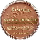 Rimmel London Natural Pressed Bronzer, Light-As-Air Waterproof Formula with Natural Glow Effect, 022 Sun Bronze, 14 g
