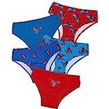 Marvel Spiderman Calzoncillos Niño Algodon, Pack de 5 Calzoncillos Comodos y Transpirables, Ropa Niño Interior Edad 18 Meses-