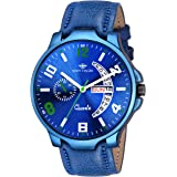 EDDY HAGER Analogue Men's Watch (Blue Dial Blue Colored Strap)