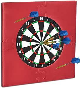 Relaxdays Dartscheibe Schutz R6, Dart Auffangring, 4-teilig, Catchring, Eva, HBT: 71 x 71 x 3 cm