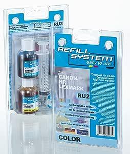 Kmp Ru2 Tintenpatrone Universal Refillsystem Color Für Canon Hp Lexmark Bürobedarf Schreibwaren