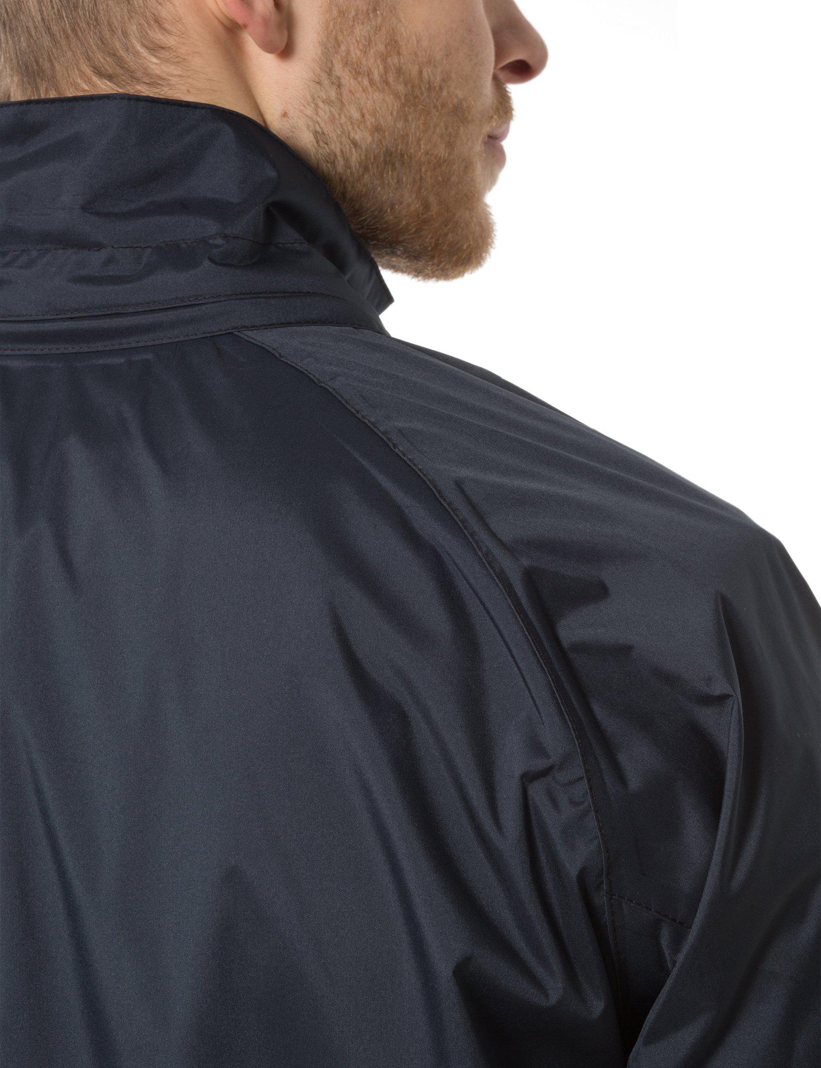 Ultrasport Ensemble vêtements imperméables pour homme Tenue étanche noire Ultraflow 10 000 Veste imperméable pour homme Sur pantalon de pluie