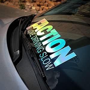 Auto Aufkleber Hologram Faction I Love Driving Slow Oilslick Sticker Dapper Illest Stance Static Low Hx Auto