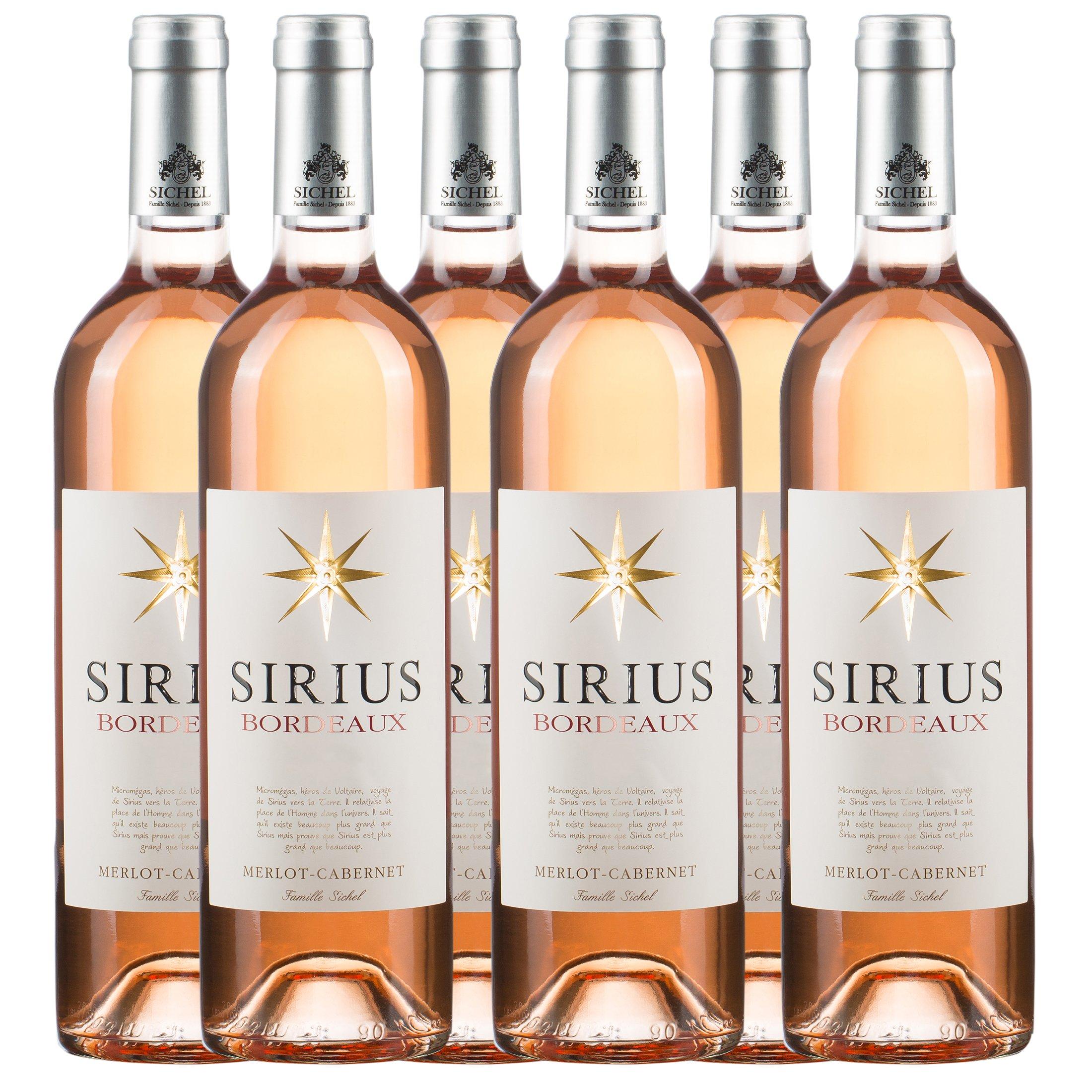 Sander's Selection Sirius Vino Rosado - Paquete de 6 x 750 ml - Total: 4500 ml