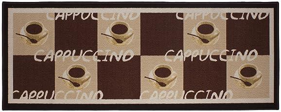 Küchenläufer Cappuccino Cups Coffee Espresso Latte Mocca Küchenteppich U2013  Wohnzimmer Eingangsberreich Flur Küche U2013 Polyamid Schadstofffrei