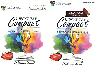 CA Final Direct Tax Compact (Free Case Law Booklet) (As per old & New Syllabus) Nov 2018 by CA Bhanwar Borana